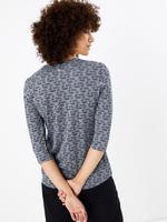 Yuvarlak Yaka 3/4 Kollu T-shirt