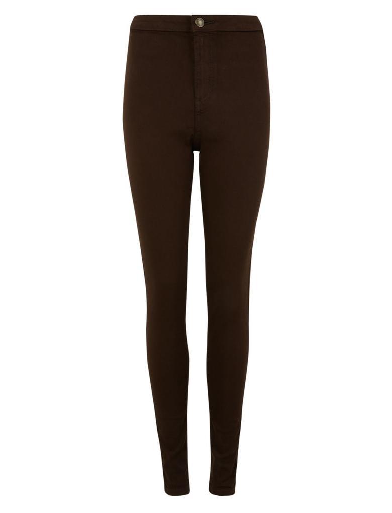 Kadın Mor Yüksek Bel Super Skinny Jean Pantolon