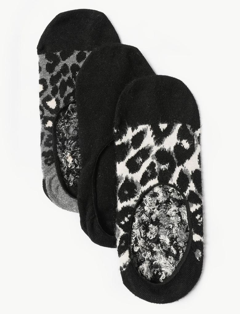 Siyah 3'lü Babet Çorabı Seti