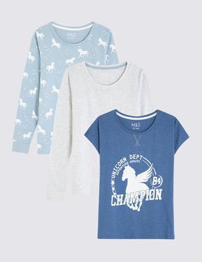 Mavi Unicorn Desenli Pijama