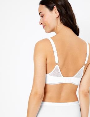 Kadın Beyaz Dantelli Full Cup T-shirt Sütyeni