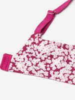 Kadın Pembe Çiçek Desenli Full Cup T-shirt Sütyeni