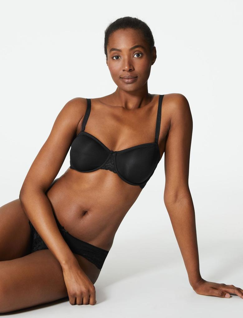 Kadın Siyah 2'li Straplez Sütyen