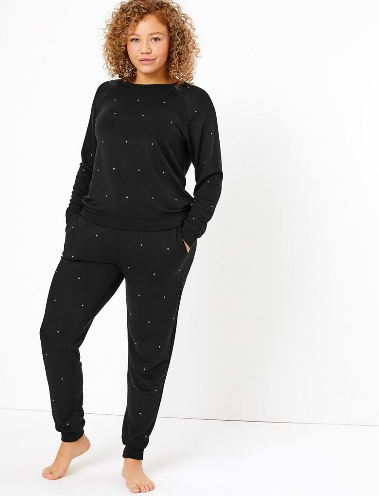 Flexifit™ İşlemeli Pijama Altı