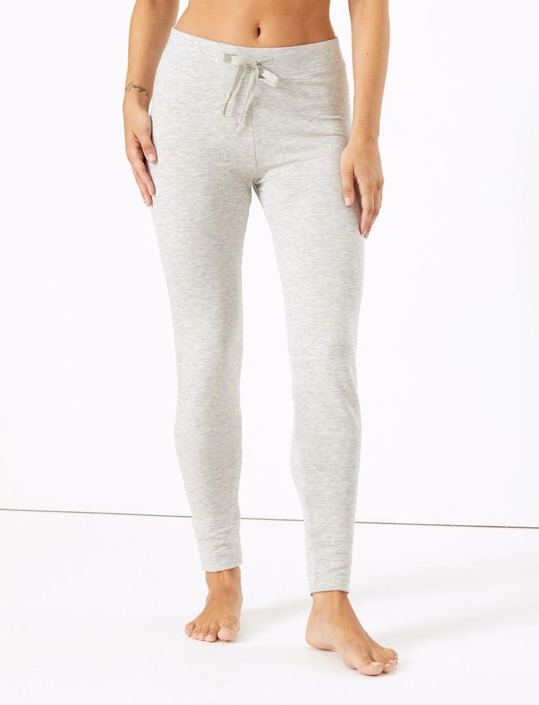 Kadın Gri Flexifit™ Tayt Şeklinde Pijama Altı