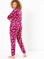 Kalp Desenli Polar Pijama Takımı