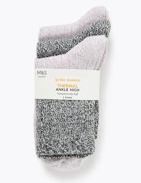 3'lü Termal Simli Ankle Çorap Seti