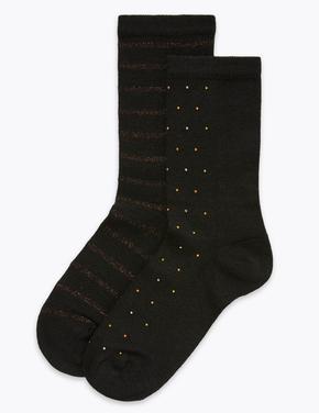 Kadın Siyah 2'li Heatgen™ Termal Çorap Seti