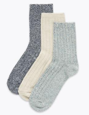 Kadın Bej 3'lü Termal Çorap Seti