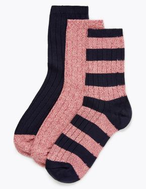 Kadın Lacivert 3'lü Termal Çorap Seti