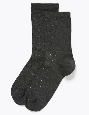 Kadın Gri 2'li Heatgen™ Termal Ankle Çorap Seti