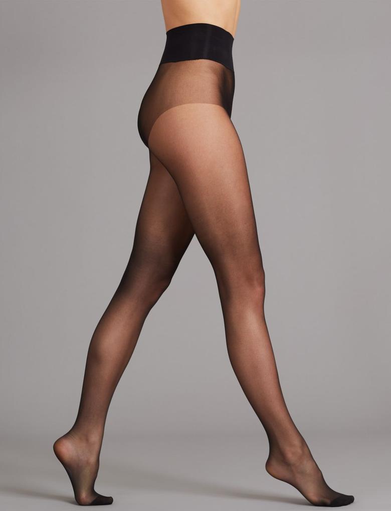 Kadın Siyah 10 Denye Mat Külotlu Çorap