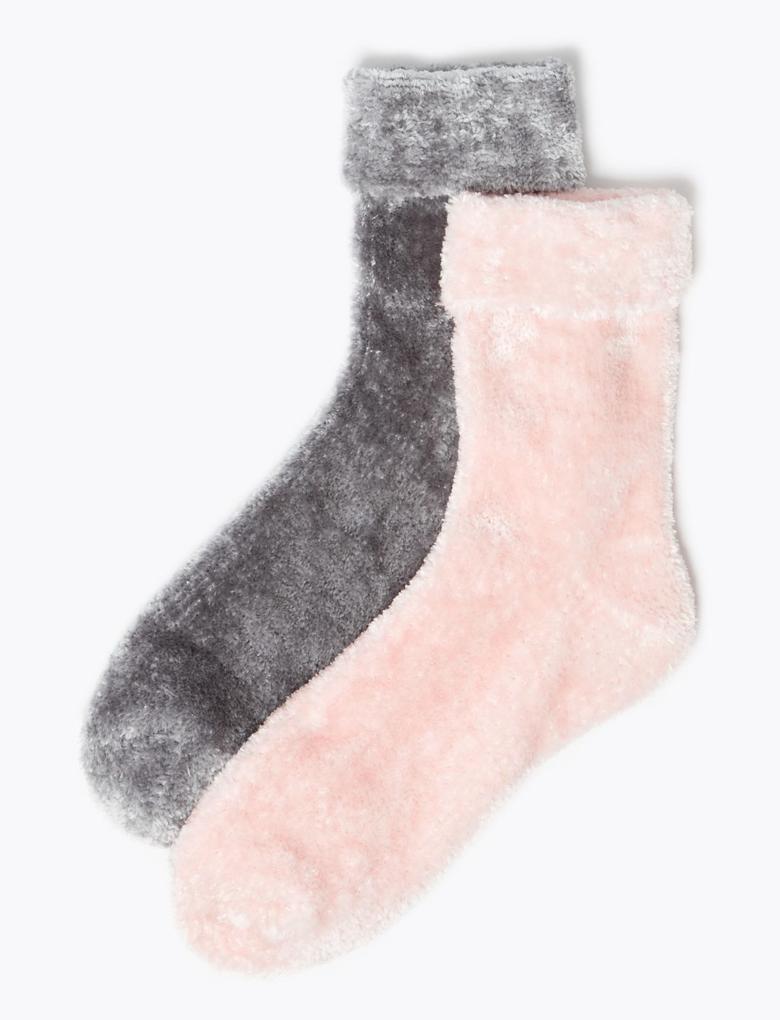 2'li Kadife Çorap Seti