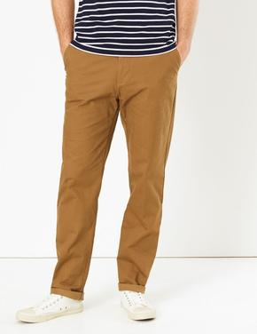 Bej Regular Fit Chino Pantolon