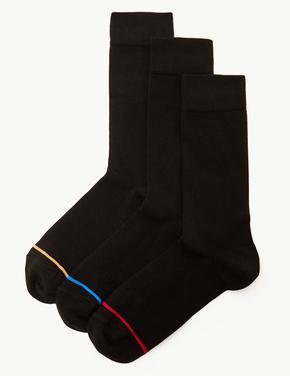Erkek Siyah 3'lü Termal Çorap Seti