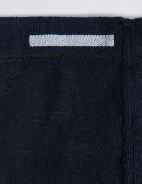 Kız Çocuk Lacivert 2'li Yünlü Freshfeet™ Termal Külotlu Çorap (5 - 14 Yaş)
