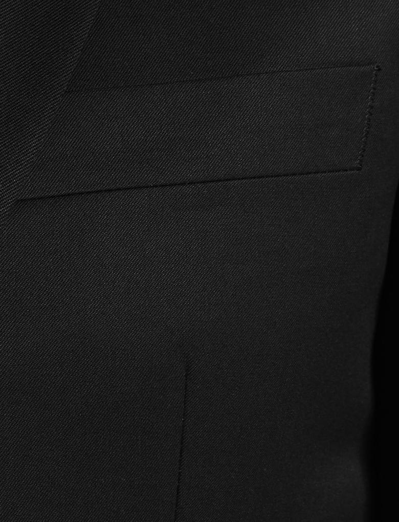 Erkek Siyah Mavi Slim Ceket