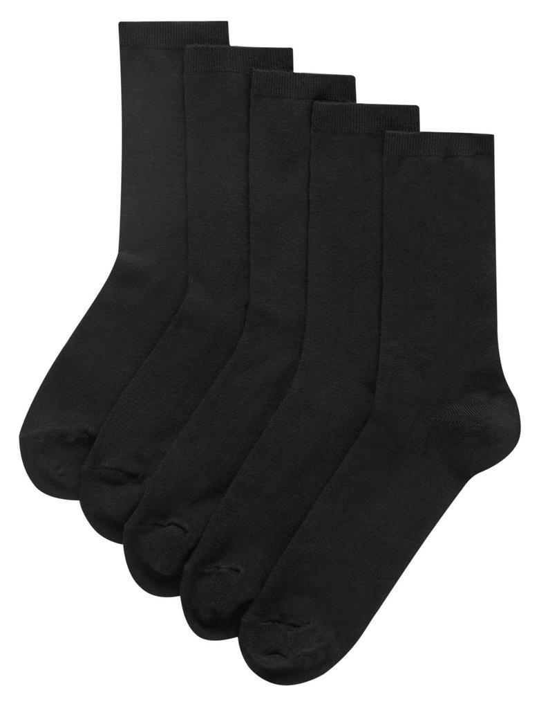 Kadın Siyah 5'li Yumuşak Çorap Seti