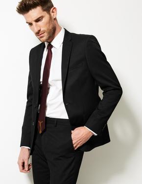 Siyah Mavi Slim Ceket