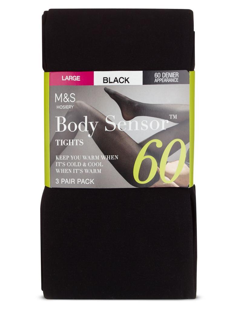 Kadın Siyah 3'lü 40 Denye Body Sensor™ Opak Külotlu Çorap