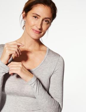 Kadın Gri Heatgen™ Termal Uzun Kollu Atlet