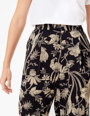 Çiçek Desenli Tapered Ankle Pantolon