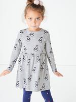 Penguen Desenli Elbise