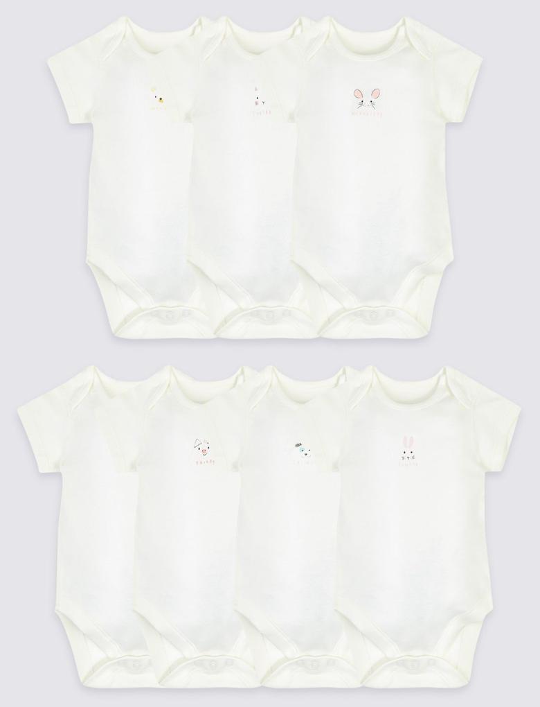 Bebek Beyaz 7'li Haftanın 7 Günü Temalı Body Seti