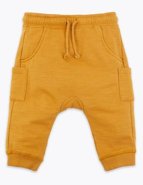 Bebek Sarı Cepli Eşofman Altı