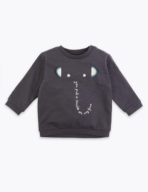 Fil İşlemeli Sweatshirt