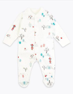 Bebek Kırmızı 2'li Yılbaşı Temalı Pijama Seti