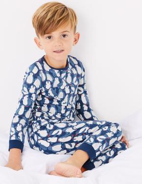 Penguen Desenli Pijama Takımı
