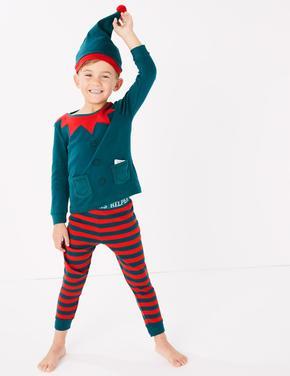 3 Parça Elf Pijama Seti