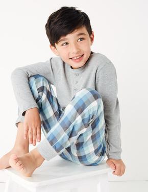 2'li Ekose Pijama Seti