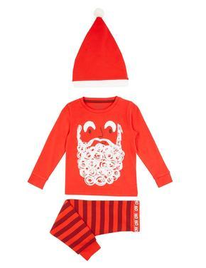 3 Parça Noel Baba Pijama Seti