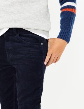 Erkek Çocuk Lacivert Kadife Pantolon