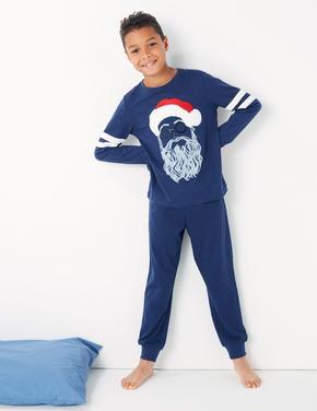 Noel Baba Desenli Pijama Takımı