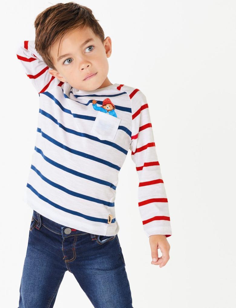 Erkek Çocuk Multi Renk Paddington™ Çizgili Uzun Kollu T-Shirt