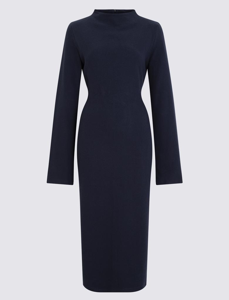 Kadın Lacivert Cosy Midi Elbise