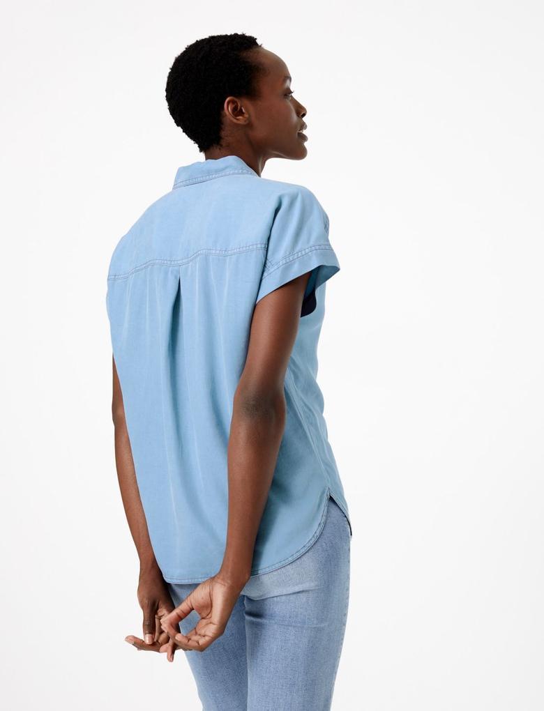 Kısa Kollu Tencel Gömlek