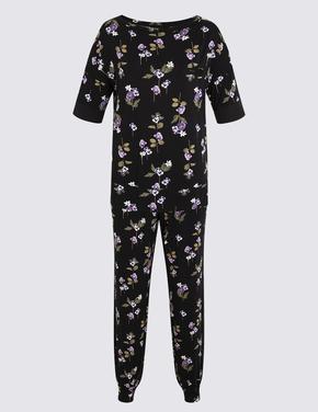 Siyah Kısa Kollu Pijama Takımı