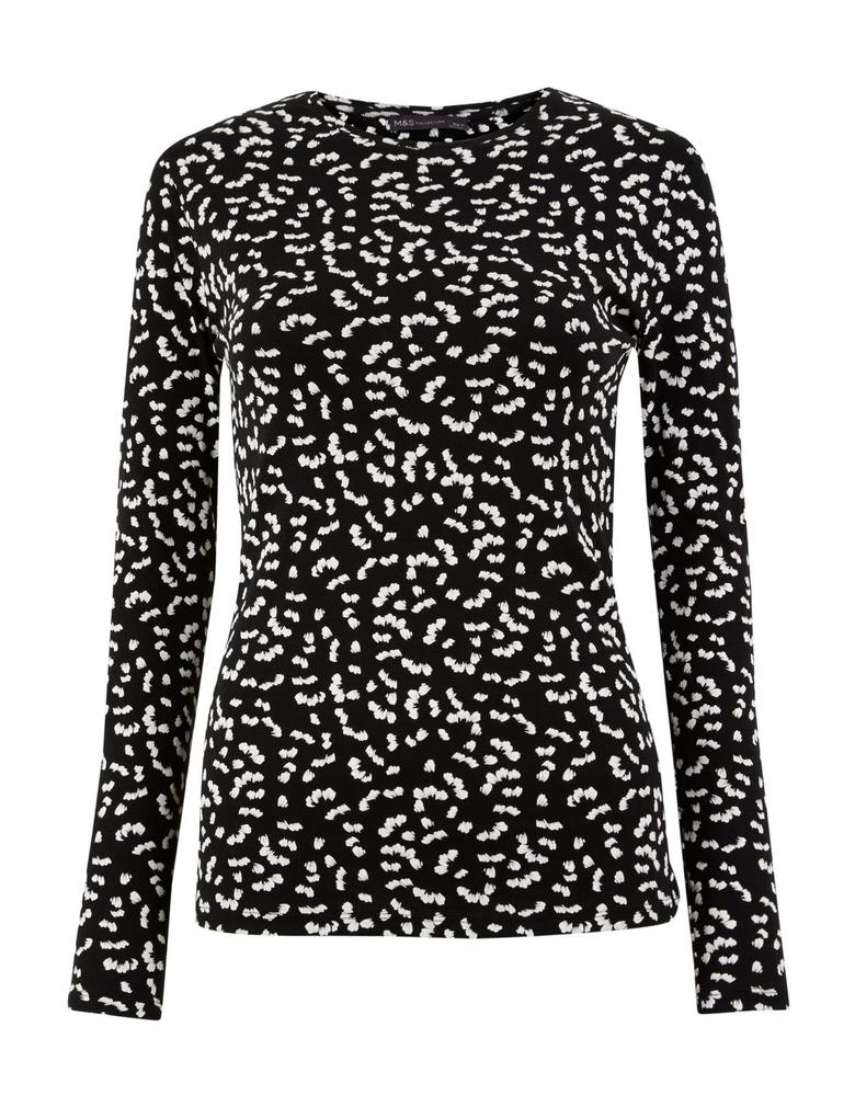 Kadın Siyah Saf Pamuk Regular Fit T-Shirt