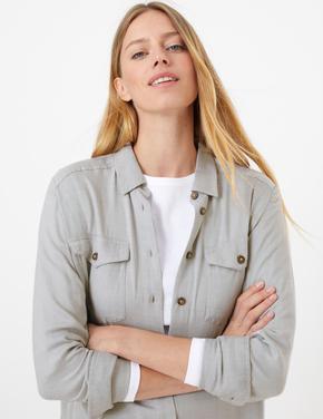 Cep Detaylı Relaxed Fit Gömlek