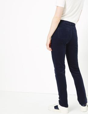 Kadife Straight Leg Pantolon