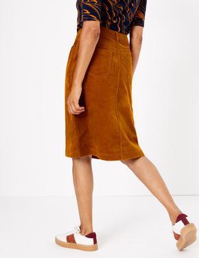 Kadın Kahverengi A Kesim Etek