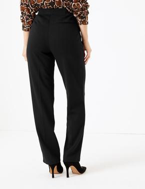 Kadın Siyah Straight Leg Ankle Pantolon