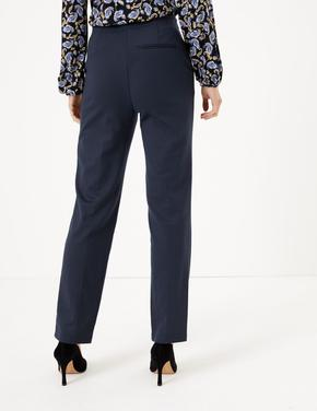 Kadın Lacivert Straight Leg Ankle Pantolon