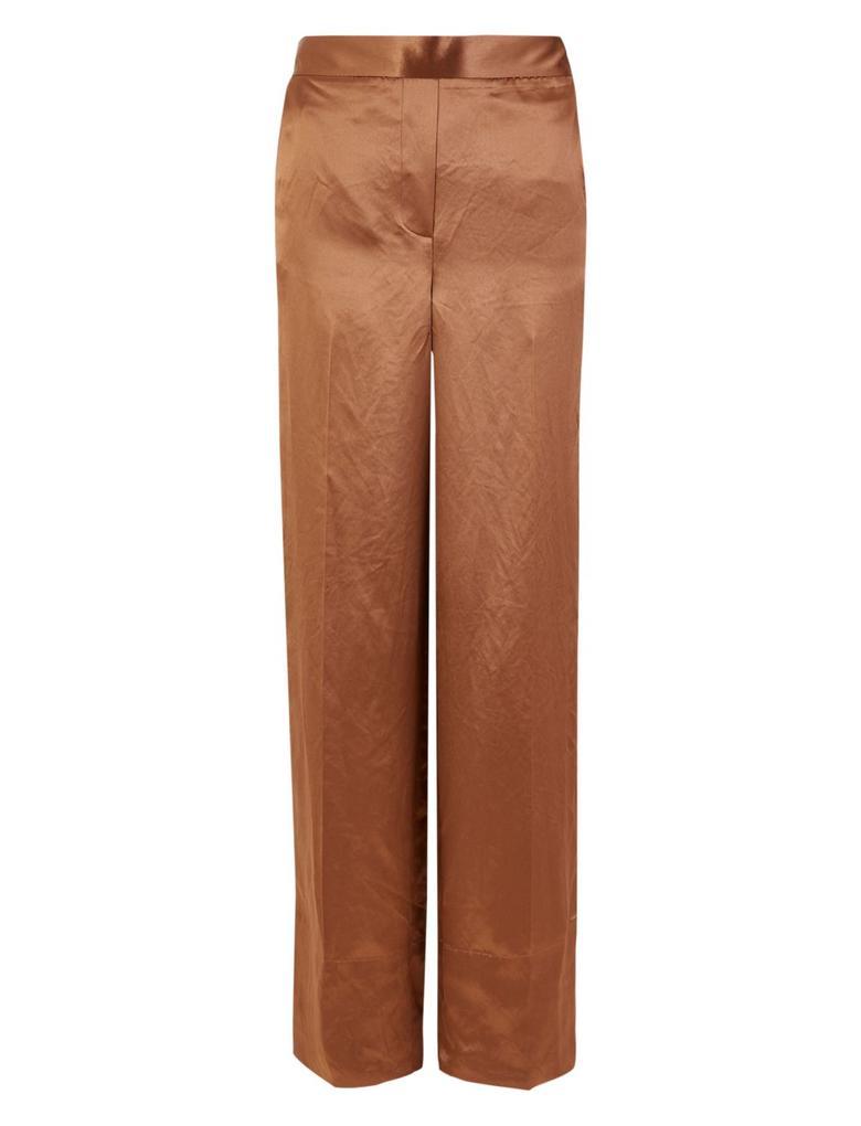 Saten Wide Leg Pantolon