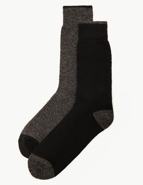Gri 2'li Termal Çorap Seti