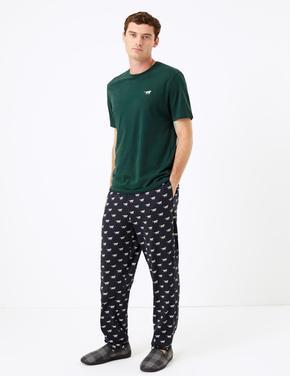Tilki Desenli Pijama Takımı